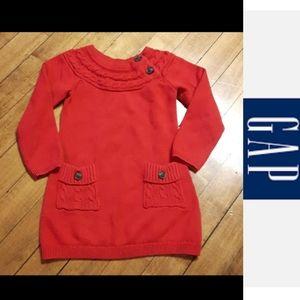 Size 2T  girls red Gap sweater dress